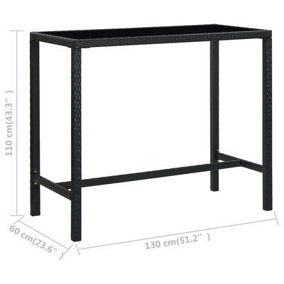 vidaXL 5 Piece Garden Bar Set Poly Rattan Black