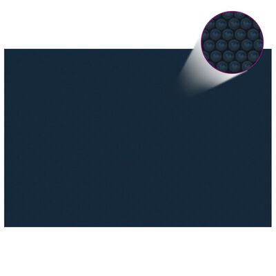 "vidaXL Floating PE Solar Pool Film 118.1""x78.7"" Black and Blue"