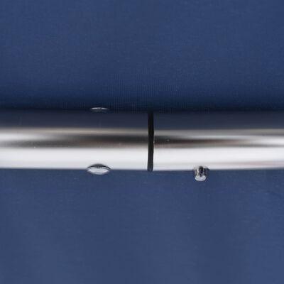 """vidaXL 3 Bow Bimini Top Blue 72""""x77.2""""x53.9"""""""