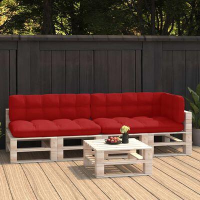 vidaXL Pallet Sofa Cushions 5 pcs Red