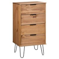 "vidaXL Drawer Cabinet 17.7""x15.6x35.6"" Solid Pine Wood"