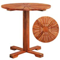 """vidaXL Bistro Table 27.6""""x27.6"""" Solid Acacia Wood"""
