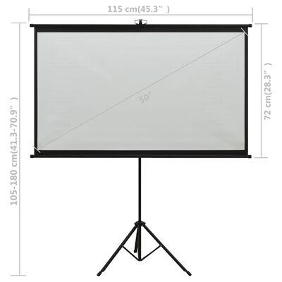 "vidaXL Projection Screen with Tripod 50"" 16:9"