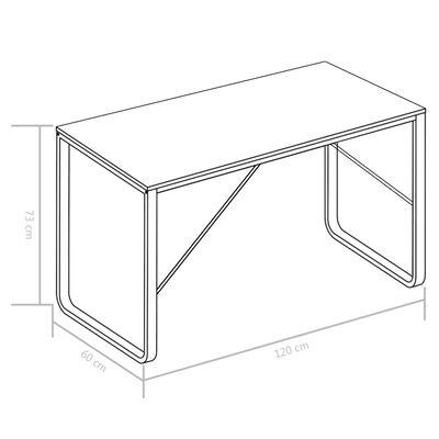 "vidaXL Computer Desk White and Oak 47.2""x23.6""x28.7"""