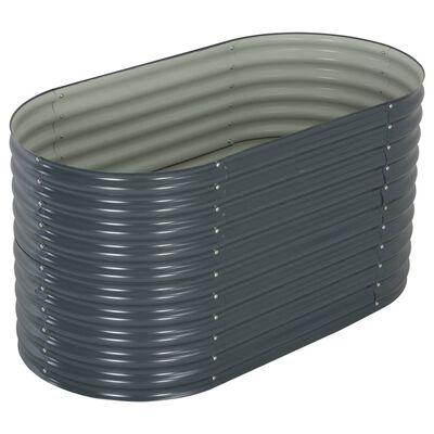 "vidaXL Garden Raised Bed 62.9""x31.4""x31.8"" galvanized Steel Gray"
