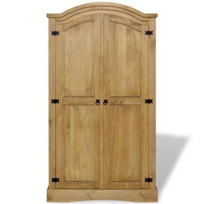vidaXL Wardrobe Mexican Pine Corona Range 2 Doors