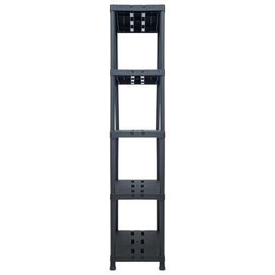 "vidaXL Storage Shelf Rack Black 573.2 lb 35.4""x15.7""x70.9"" Plastic"