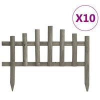 vidaXL Lawn Edgings 10 pcs Firwood 14.4'