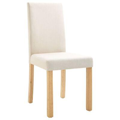 vidaXL Dining Chairs 4 pcs Cream Fabric