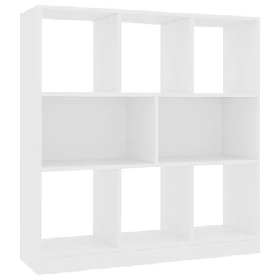 "vidaXL Book Cabinet White 38.4""x11.6""x39.4"" Chipboard"