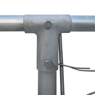 """vidaXL Outdoor Dog Kennel Galvanised Steel 157.5""""x157.5""""x39.4"""""""