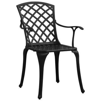 vidaXL Garden Chairs 4 pcs Cast Aluminum Black