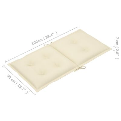 """vidaXL Garden Chair Cushions 6 pcs Cream 39.4""""x19.7""""x2.8"""""""