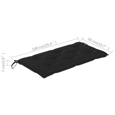 "vidaXL Garden Bench Cushion Black 39.4x19.7""x2.8"" Fabric"""