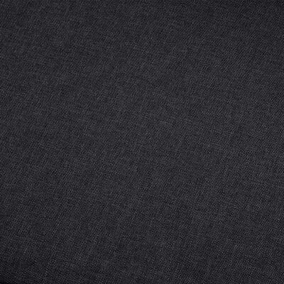 vidaXL Corner Sofa Dark Gray Fabric