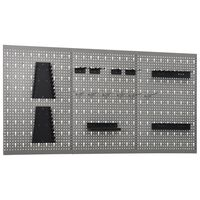 "vidaXL Wall-mounted Peg Boards 3 pcs 15.7""x22.8"" Steel"