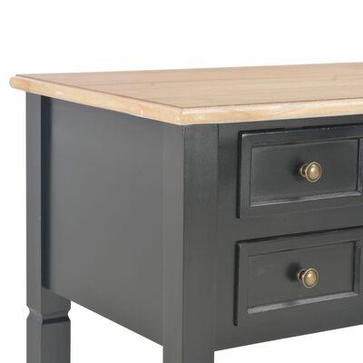 """vidaXL Writing Desk Black 43.1""""x17.7""""x30.5"""" Wood"""