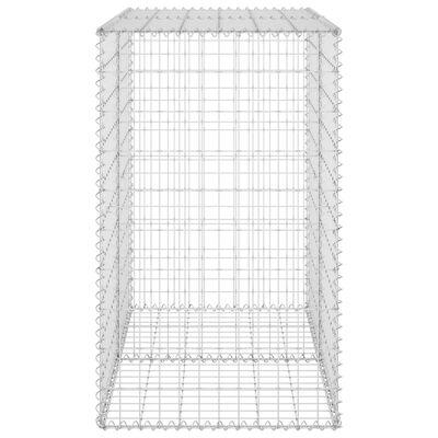 "vidaXL Gabion Wall with Covers Galvanized Steel 39.4""x23.6""x39.4"""