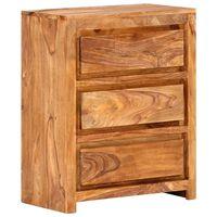 "vidaXL Drawer Cabinet 23.6""x13""x29.5"" Solid Sheesham Wood"