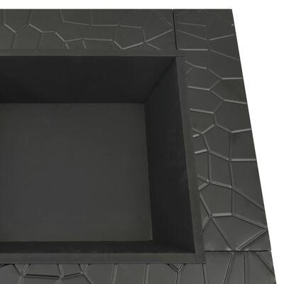 "vidaXL Garden Fire Pit with Poker 31.9x31.9""x18.5"" XXL Steel"""