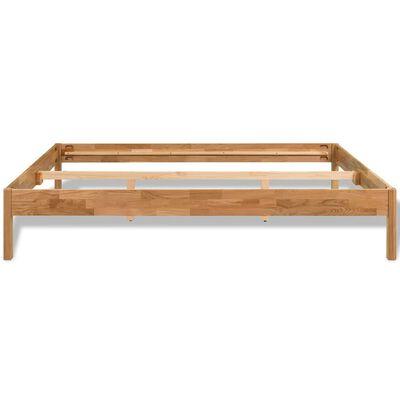 "vidaXL Bed Frame Solid Oak Wood 76""x79.9"""