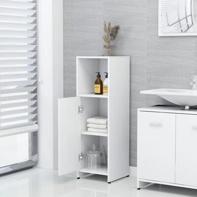 "vidaXL Bathroom Cabinet White 11.8""x11.8""x37.4"" Chipboard"