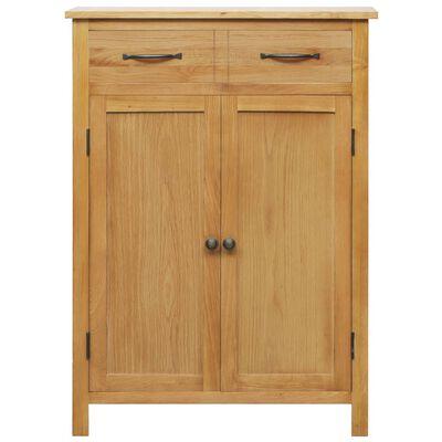 """vidaXL Shoe Cabinet 29.9""""x14.6""""x41.3"""" Solid Oak Wood"""