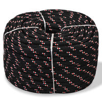 "vidaXL Marine Rope Polypropylene 0.39"" 1968.5"" Black"