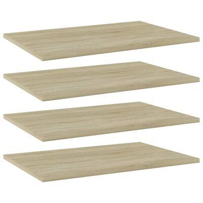 """vidaXL Bookshelf Boards 4 pcs Sonoma Oak 23.6""""x15.7""""x0.6"""" Chipboard"""