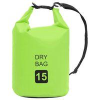 vidaXL Dry Bag Green 4 gal PVC