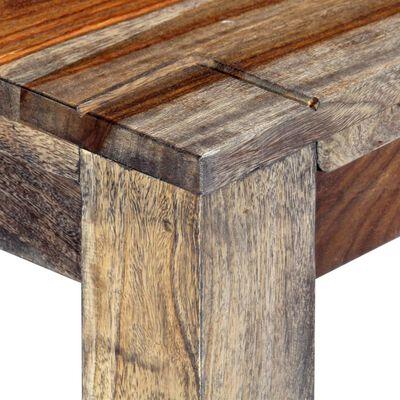"vidaXL Bench 63"" Gray Solid Sheesham Wood"