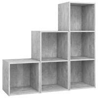 vidaXL 3 Piece TV Cabinet Set Concrete Gray Chipboard