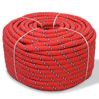 "vidaXL Marine Rope Polypropylene 0.31"" 3937"" Red"