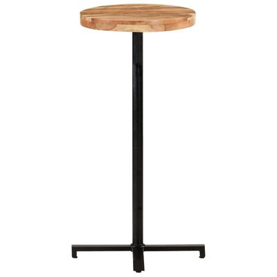 "vidaXL Bar Table Round Ø19.7""x43.3"" Solid Acacia Wood"