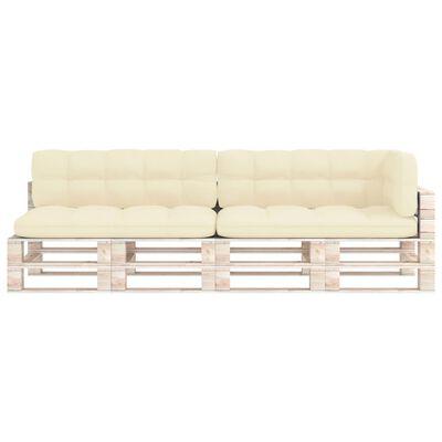 vidaXL Pallet Sofa Cushions 5 pcs Cream