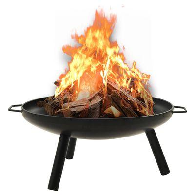 """vidaXL Fire Pit 27.6""""x23.2""""x11"""" Steel"""