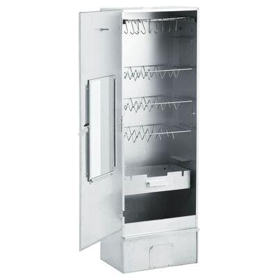 "vidaXL BBQ Oven Smoker with 2.2lbs Wood Chips 17.5""x11.4""x48.8"""