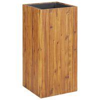 "vidaXL Garden Raised Bed 17.1""x17.1""x35.4"" Solid Acacia Wood"