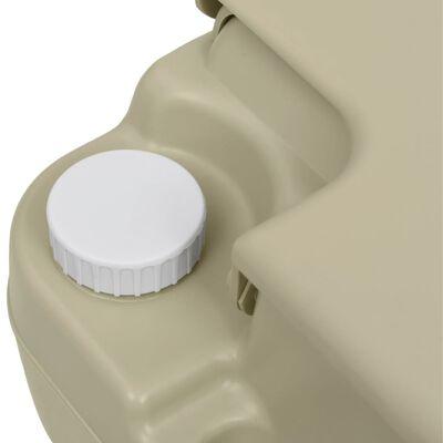 vidaXL Portable Camping Toilet 2.6+2.6 gal and Handwash Stand 5.3 gal Set Gray