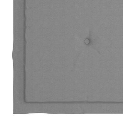 "vidaXL Garden Chair Cushions 2 pcs Gray 15.7""x15.7""x1.6"" Fabric"