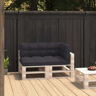 vidaXL Pallet Sofa Cushions 3 pcs Anthracite