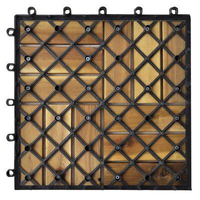 """vidaXL 10 pcs Acacia Decking Tiles 11.8""""x11.8"""""""