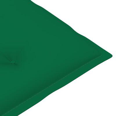 "vidaXL Garden Chair Cushions 2 pcs Green 47.2""x19.7""x2.8"""