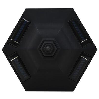 vidaXL Outdoor Solar Lamps 6 pcs LED Black
