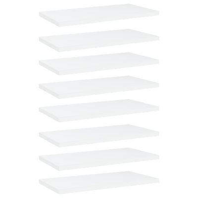 "vidaXL Bookshelf Boards 8 pcs White 15.7""x7.9""x0.6"" Chipboard"