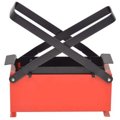 "vidaXL Paper Log Briquette Maker Steel 13.4""x5.5""x5.5"" Black and Red"