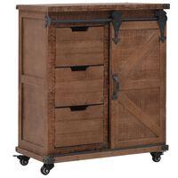 """vidaXL Storage Cabinet Solid Fir Wood 25.2""""x13.2""""x29.5"""" Brown"""