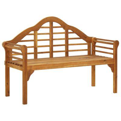 "vidaXL Garden Queen Bench with Cushion 53.1"" Solid Acacia Wood"