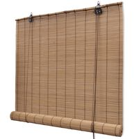 """Brown Bamboo Roller Blinds 31.5"""" x 63"""""""