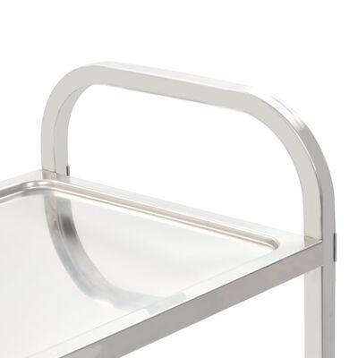 "vidaXL 2-Tier Kitchen Trolley 42.1""x21.7""x35.4"" Stainless Steel"